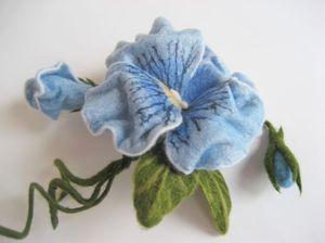 Валяние цветка из шерсти для начинающи