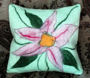 Валяние подушки из шерсти для начинающи