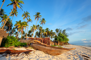 Занзибар, песочный пляж