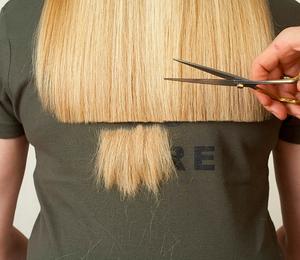 Как самим подровнять кончики волос