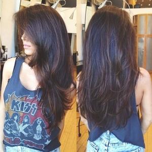 Стрижка каскад для длинных волос