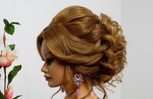 Вечерние прически на среднюю длину волос