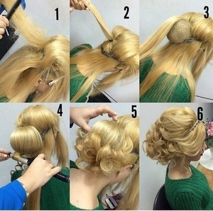 Красивый способ собрать волосы в пучок