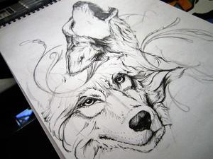 Что означает тату волка