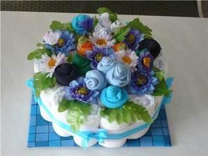 odnoyarusnyy_tort_pampersov Как сделать торт из памперсов своими руками