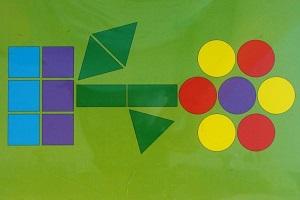 image Аппликация из геометрических фигур для детей 6-10 лет. Мастер-класс с фото